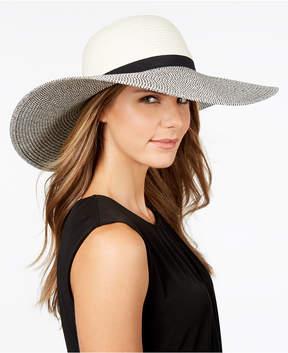 Calvin Klein Metallic Woven-Brim Floppy Hat