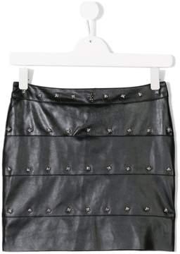 John Richmond Kids Teen studded faux leather skirt