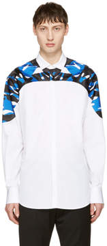 DSQUARED2 White Mini Collar Evening Shirt