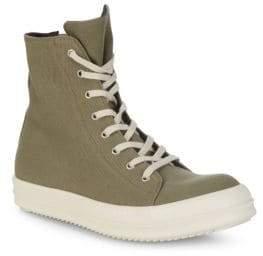 Rick Owens Vegan High-Top Sneakers