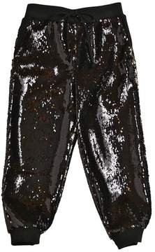 Milly Minis Sequined Crepe Sweatpants