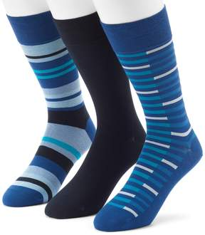 Marc Anthony Men's 3-pack UltraFresh Solid & Striped Dress Socks