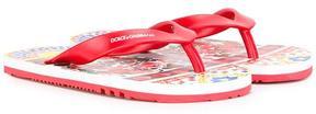 Dolce & Gabbana Kids Mambo print flip flops