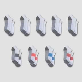 Hanes Kids' Premium® No Show Socks 8 Pack +1 Bonus - White