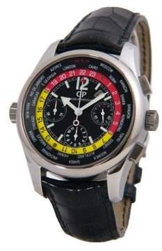 Girard Perregaux Worldtimer WW TC Black Dial Chronograph GMT Men's Watch