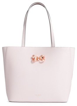 Ted Baker Larah Looped Bow Leather Shopper - Pink