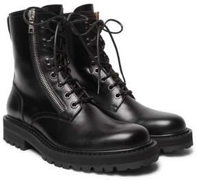 Dries Van Noten Leather Commando Boots