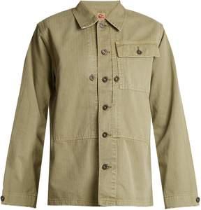 Chimala Oversized herringbone cotton jacket