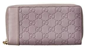 Gucci Purple Guccissima Leather Zip Around Wallet. - MULTIPLE COLORS - STYLE