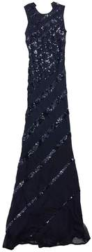 Alberto Makali Black Sequin Silk Maxi Dress
