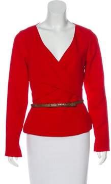 Barbara Bui Structured Long Sleeve Top