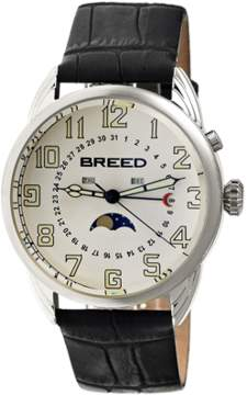 Breed Alton Moon-phase Leather-band Watch.
