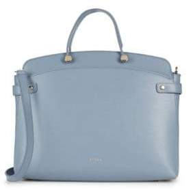 Furla Solid Leather Satchel