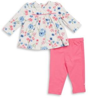 Offspring Baby Girl's Two-Piece Floral Tunic & Leggings Set
