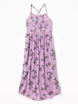Old Navy Pintucked Floral Crepe Midi for Girls