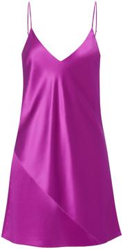 Fleur Du Mal Raspberry Mini Slip Dress