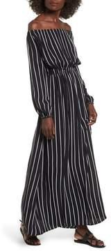 Billabong Women's Crystal Ball Off The Shoulder Maxi Dress