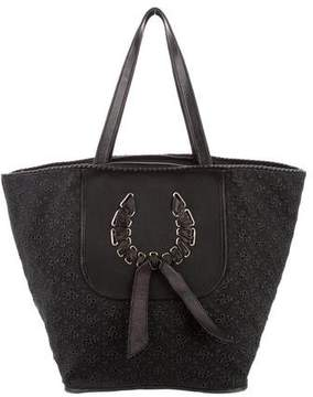 Nina Ricci Leather-Trimmed Canvas Tote