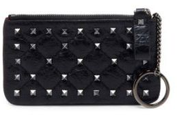 VALENTINO GARAVANI Rockstud Spike Leather Key Case