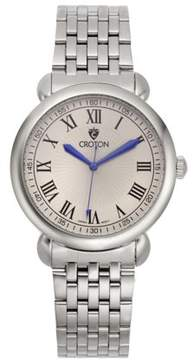 Croton Men's Heritage Silvertone Stainless Bracelet Watch with Silver Dial