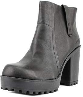 Coolway Idina Women Round Toe Synthetic Black Ankle Boot.