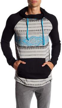 Burnside Funnel Neck Desert Print Sweatshirt
