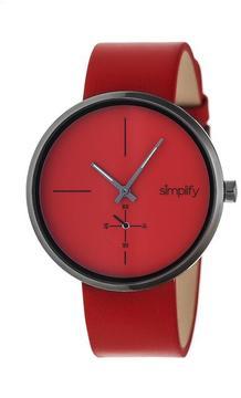 Simplify The 4400 Collection SIM4406 Gunmetal Analog Watch