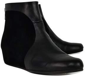 Aquatalia Black Leather Booties
