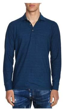 H953 Men's Blue Cotton Polo Shirt.