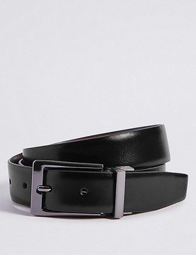 Marks and Spencer Coated Leather Buckle Reversible Belt