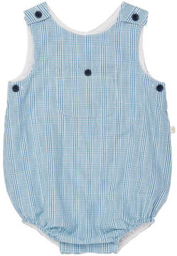 Marie Chantal Baby Boy Summer Check Bubble romper