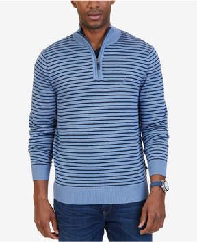 Nautica Men's Quarter-Zip Striped Sweater