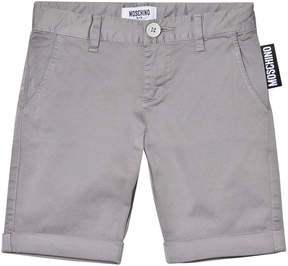 Moschino Grey Branded Label Shorts