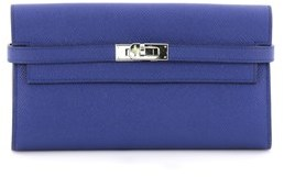 Hermes Pre-owned: Kelly Wallet Epsom Long. - BLUE - STYLE