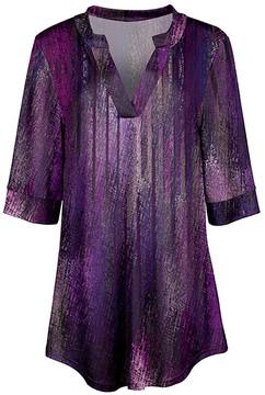 Azalea Purple & Lavender Abstract V-Neck Tunic - Women & Plus
