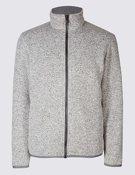 Marks and Spencer Textured Zipped Through Fleece Jacket