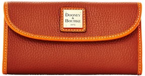Dooney & Bourke Pebble Grain Continental Clutch Wallet - AMBER - STYLE