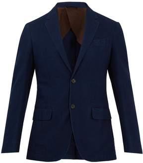 Ermenegildo Zegna Single-breasted cotton-twill blazer