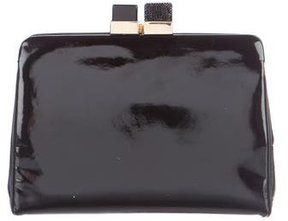 Judith Leiber Leather Kiss-Lock Clutch