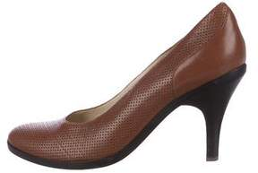 Dries Van Noten Perforated Leather Pumps