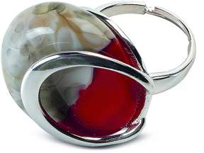 Antica Murrina Veneziana Oriental - Red Murano Glass Ring w/Crackling Effect