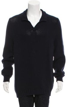 Malo Mock Neck Rib Knit Sweater