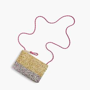 J.Crew Girls' glitter colorblock pouchette bag