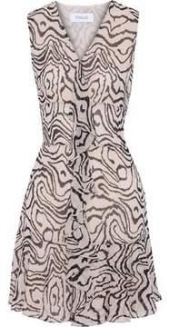 Derek Lam 10 Crosby Ruffled Printed Silk-Chiffon Mini Dress