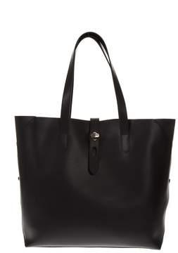 Hogan Black Leather Bucket Bag