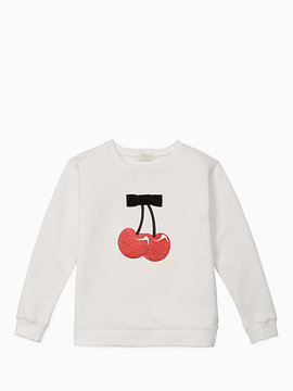 Kate Spade Girls cherries sweatshirt