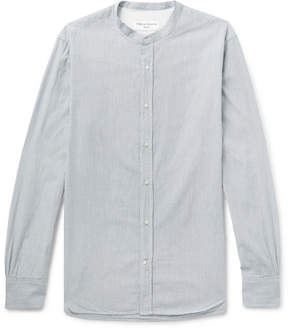 Officine Generale Gaspard Grandad-Collar Striped Cotton-Dobby Shirt