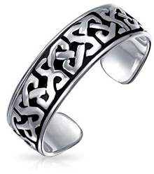 Celtic Bling Jewelry Knot Mid Finger Ring 925 Silver Adjustable Toe Rings.