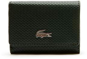 Lacoste Women's Chantaco Christmas Pique Leather Wallet And Key Chain Set