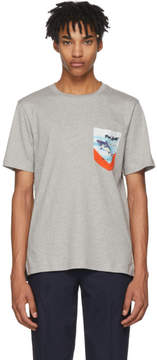Paul Smith Grey Contrast Pocket T-Shirt